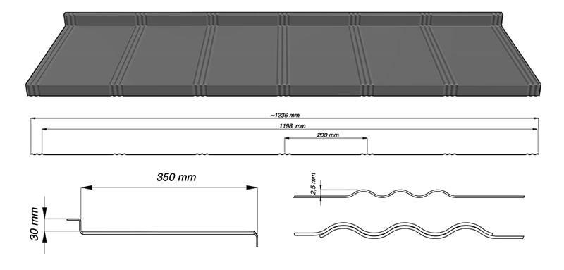 Țiglă metalică modulară Tysenia