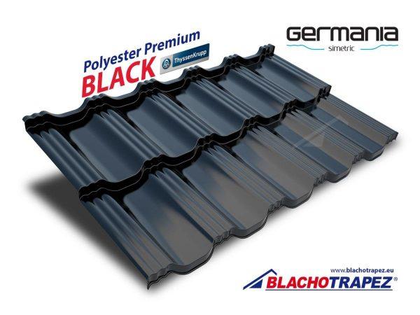 Țiglă metalică modulară Germania simetric